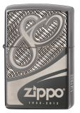 Zippo 80 th. Anniversary - Limited Edition - Armor Black Chrome - Zippo Art.-Nr.: 2.002.603 - Suggested Retail: Euro 125,00